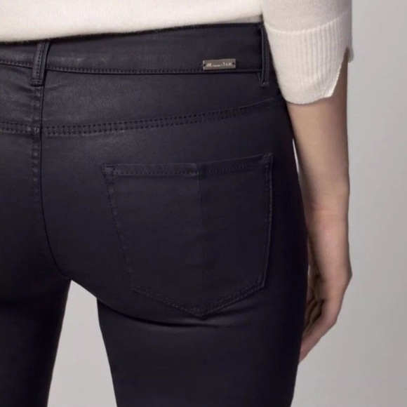 hot-selling newest 100% quality elegant appearance Massimo Dutti coated navy skinny jeans